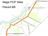 Map of Mega POP Sites