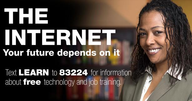 Text LEARN to 83224 for free technology and job training info