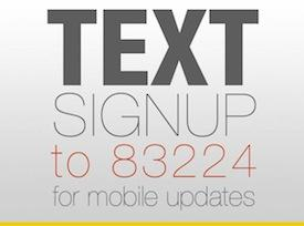 Text Signup to 83224